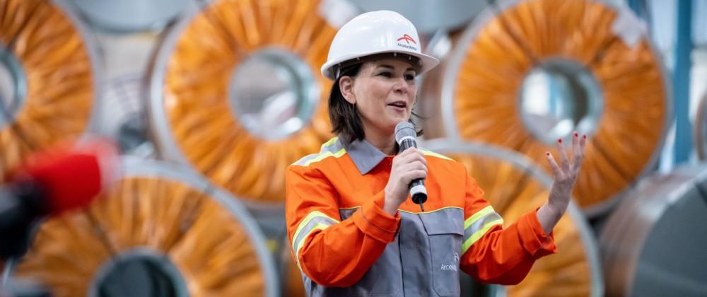 Wahlkampf Baerbock - ArcelorMittal