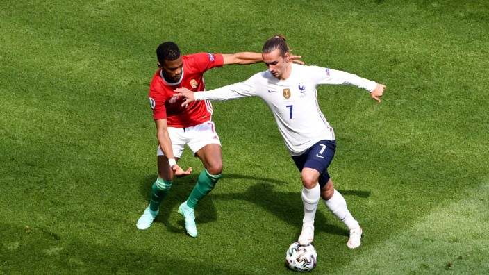 07 ANTOINE GRIEZMANN (FRA) - 07 LOIC NEGO (HON) FOOTBALL : Hongrie vs France - UEFA EURO, EM, Europameisterschaft,Fussba