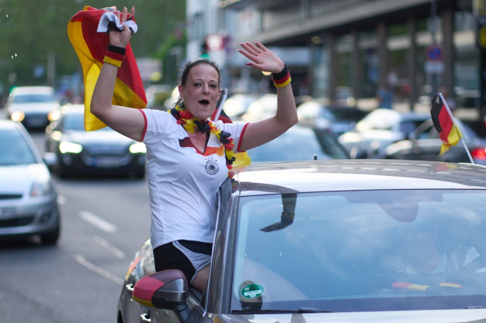 Fußball EM - Portugal - Deutschland - Autokorso