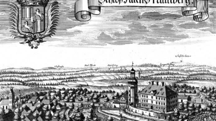 Auf dem Kupferstich von  Michael Wening erkennt man neben dem Schloss die Gartenanlagen