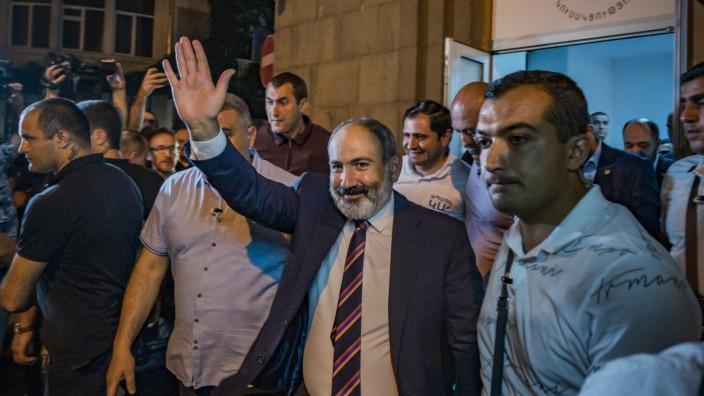 June 21, 2021, Yerevan, Yerevan, Armenia: Nikol Pashinyan, Prime Minister of Armenia and main candidate of the Civil Co