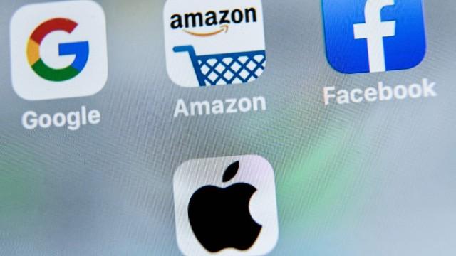 Wettbewerb: Das sind die sogenannten großen vier: Google, Amazon, Facebook und Apple.