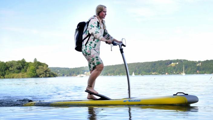 Feldafing: Ärztin Maraike von Samson-Himmelstjerna mit ihrem Pedalboard