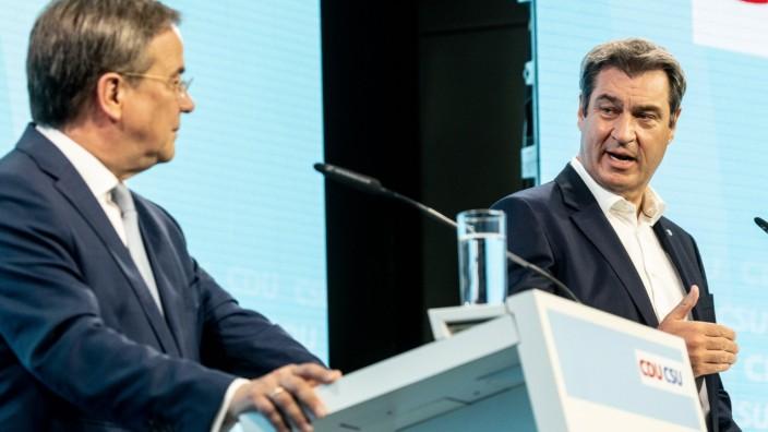 CDU And CSU Meet In Berlin, Formulate Election Campaign Program