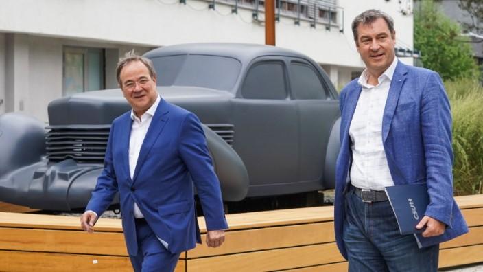CDU-Chef Armin Laschet und CSU-Chef Markus Söder in Berlin