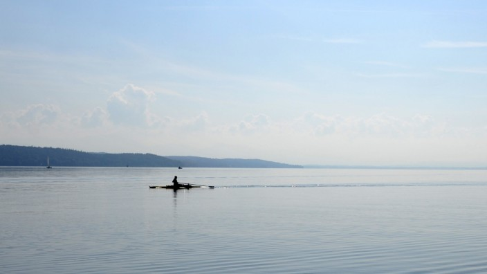 Ruderer auf dem Starnberger See