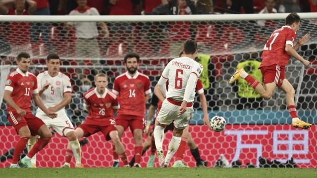 Dänemark bei der EM 2021: Im Rückraum taucht Abwehrspieler Andreas Christensen auf und schießt das 3:1.