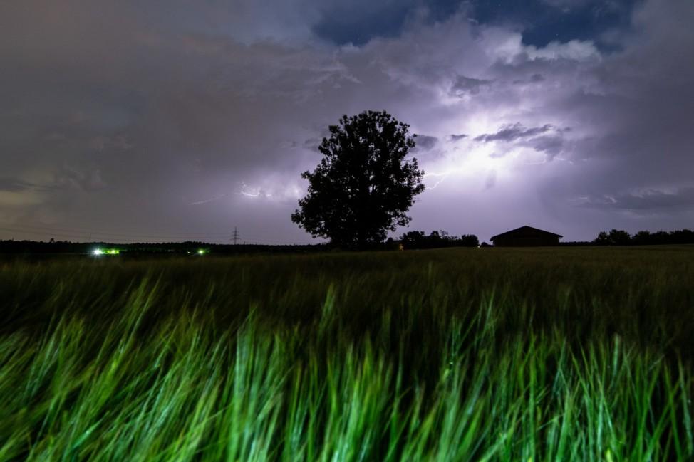 Gewitter über Oberbayern