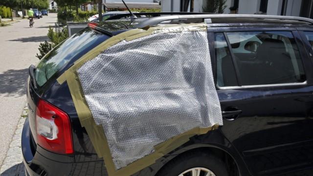 Auto Scheiben Hagel Unwetter Wolfratshausen zerstört