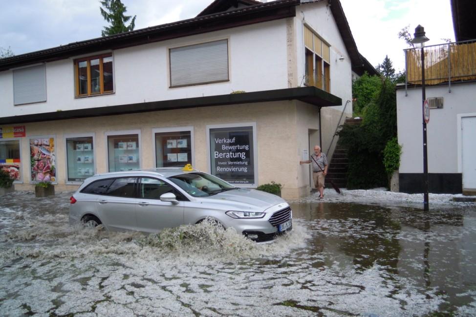 Ebersberg, Gewitter, Unwetter, Hagel, Überschwemmung, Ulrichstraße