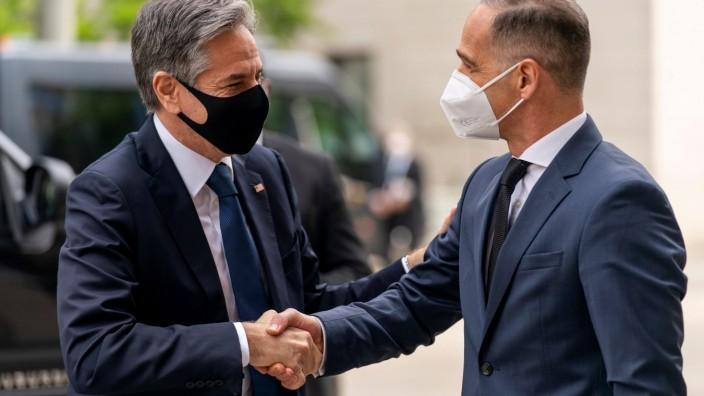 Außenminister Heiko Maas empfängt US-Außenminister Antony Blinken in Berlin.