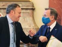 Thüringen: CDU-Fraktionschef Mario Voigt und Ministerpräsident Bodo Ramelow