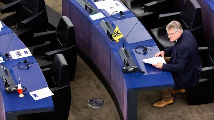 Jörg Meuthen im Europäischen Parlament: Seine Immunität als Abgeordneter wird möglicherweise aufgehoben.