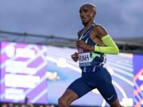 25th June 2021; Manchester Regional Arena, Manchester, Lancashire, England; Muller British Athletics Championships; Mo; Mo Farah