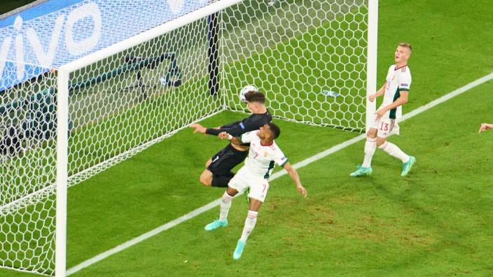 Kay Havertz, DFB 7 scores, shoots goal , Tor, Treffer, Kopfballtor, Kopfballtreffer, 1-1 in the Group F match GERMANY -