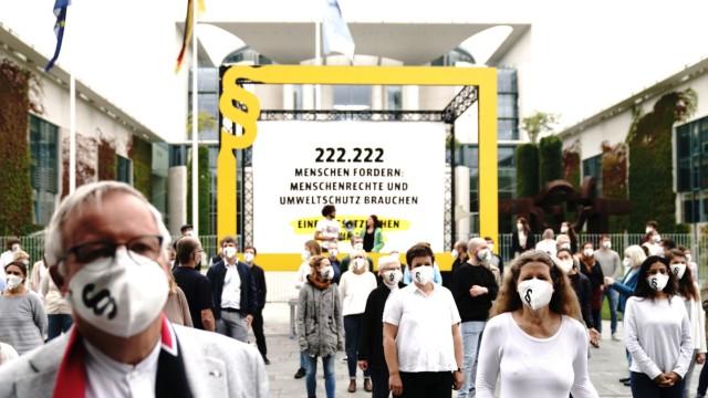 Demonstration für wirksames Lieferkettengesetz