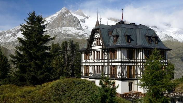 Villa Cassel auf der Riederfurka, Wallis, Goms, Pro Natura Naturschutzzentrum Aletsch, Aletschgebiet *** Villa Cassel on