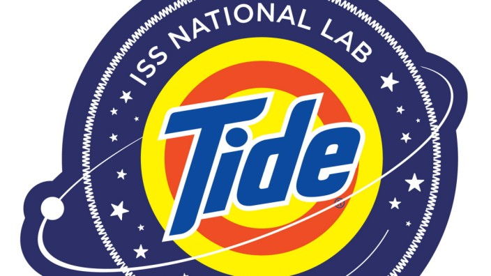 The logo for the NASA Tide detergent that will be tested in space