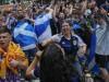 Das Virus feierte mit: Schottische Fußballfans vor dem EM-Spiel gegen England in London. Danach waren Hunderte Menschen infiziert.