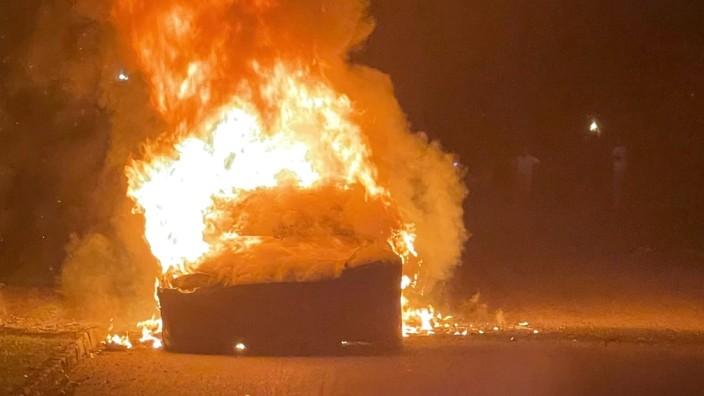 Brennender Tesla S Plaid in Pennsylvania