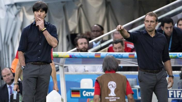 Rio de Janeiro 13 07 2014 Estadio do Maracana Trainer Joachim Löw Deutschland Assistenz Traine; Fußball-EM