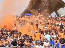 Formula 1 2021: Austrian GP RED BULL RING, AUSTRIA - JULY 03: Dutch fans turn the circuit orange in support of Max Vers