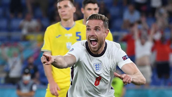 England bei der Fußball-EM: Schütze des vierten Tores: Englands Jordan Henderson.