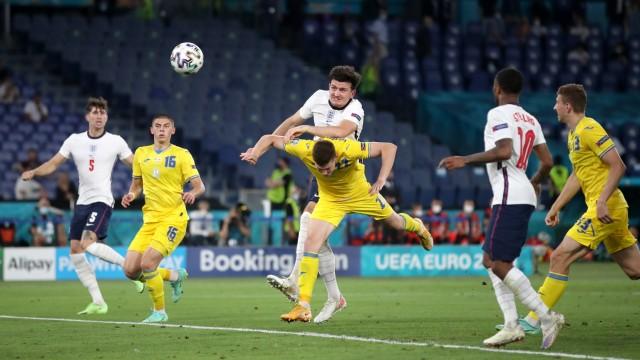 Sport Bilder des Tages Ukraine v England - UEFA EURO, EM, Europameisterschaft,Fussball 2020 - Quarter Final - Stadio Oli