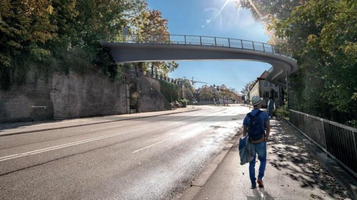 Politik München: Der neue Entwurf für den Giesinger Steg kommt mehr dem Denkmalschutz entgegen. Simulation: Leonhardt, Andrä und Partner