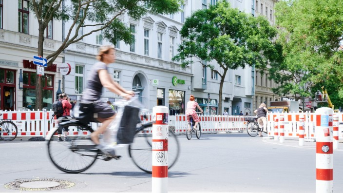 Baubeginn Radweg Bergmannstraße