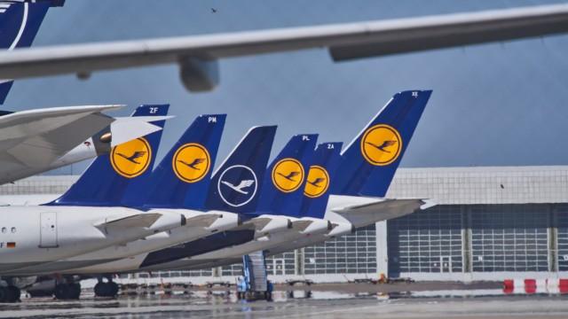 Freising, Germany, April 22, 2020. Munich International Airport Munich Franz Josef Strauss like swept empty due to the C