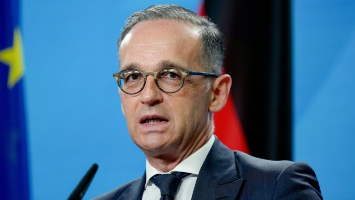 German Foreign Minister Heiko Maas and Yemen's Foreign Minister Ahmad Awad bin Mubarak attend news conference in Berlin