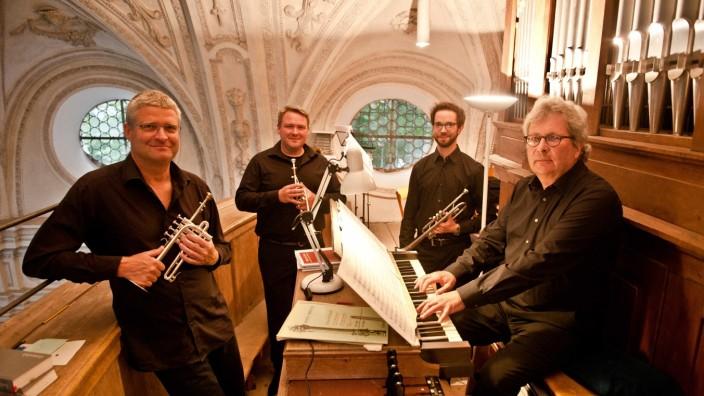 Konzert in Möschenfeld: Perlen der Barockzeit: Organist Matthias Gerstner spielt zusammen mit den Trompetern Robert Hilz, Christian Bühn und Leonhard Braun.