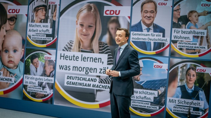 Vorstellung der Bundestagswahlkampfkampagne der CDU
