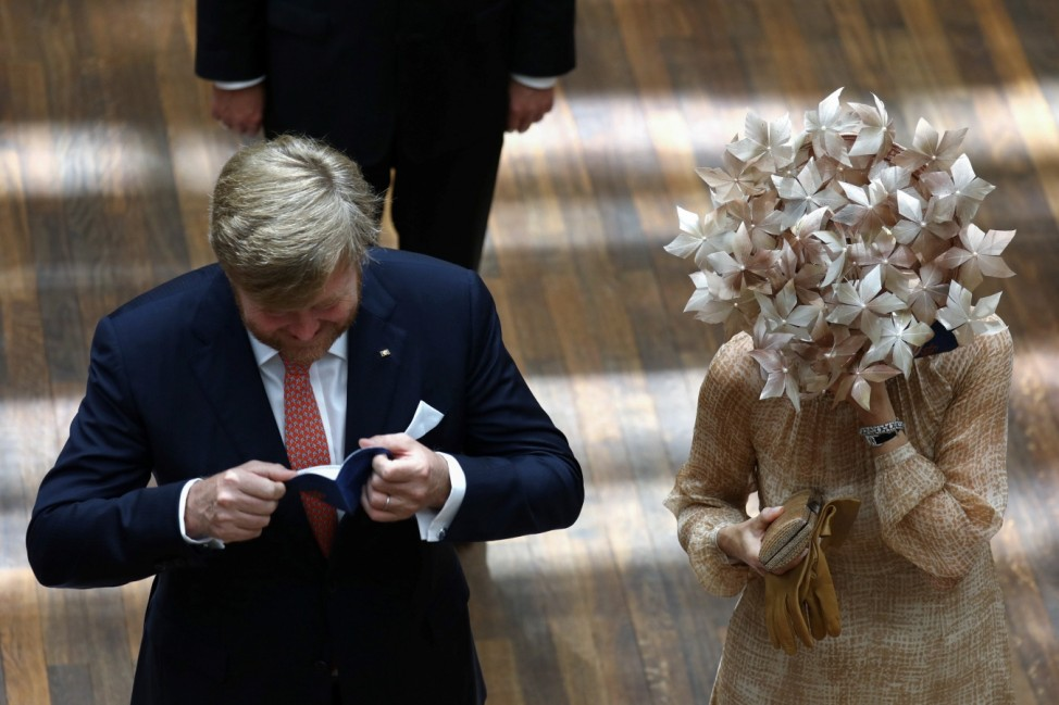 King Willem-Alexander and Queen Maxima of the Dutch royal family visit Germany