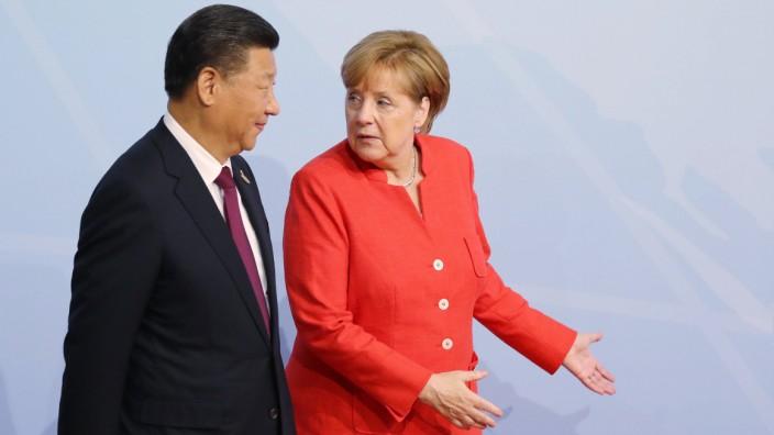 Xi Jinping, Angela Merkel