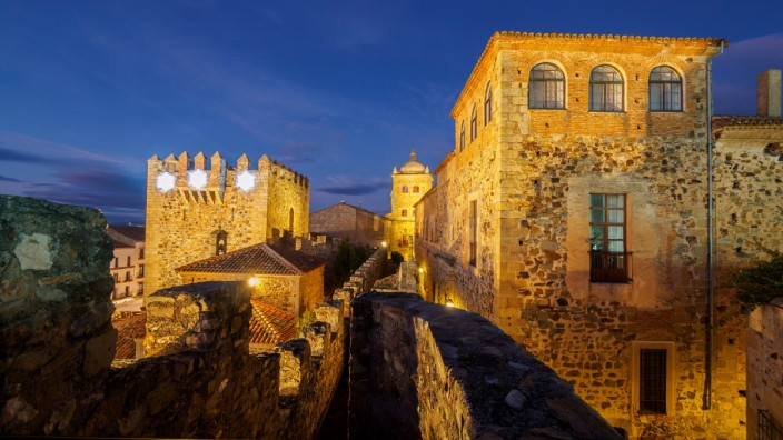 Old Town of Cáceres, medieval town, World Heritage City by UNESCO, Caceres City, Caceres Province, Extremadura, Spain, Europe. (Hugo Alonso)