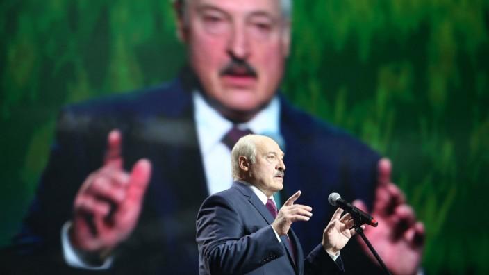 Es sei ein Krieg im Gange, sagt der belarussische Diktator Alexander Lukaschenko.