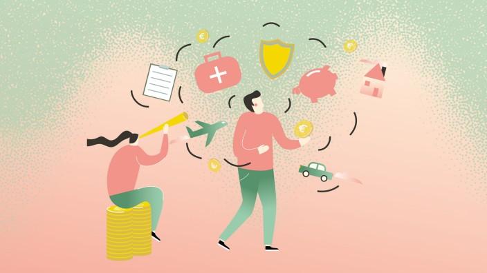 In zwölf Schritten zum ETF: Illustration: Jessy Asmus