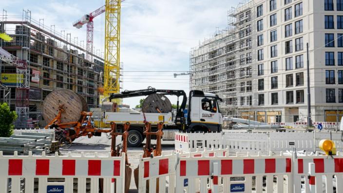 München heute: Trotz vieler Baustellen - im Bild das ehemalige Paulaner-Gelände am Nockherberg: Wohnungen bleiben in München Mangelware.