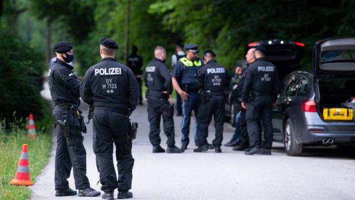 München: Polizei schießt auf Mann in Englischem Garten