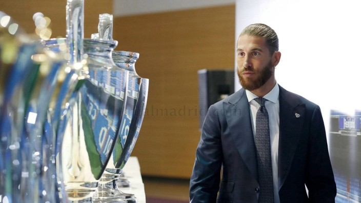 Sport Bilder des Tages Tribute act and farewell to Sergio Ramos. Real Madrid City hosted the act of tribute to Sergio Ra