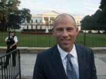 July 17 2018 Headline Michael Avenatti at the White House Caption Stormy Daniels lawyer Mich
