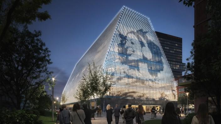 Konzerthaus im Werksviertel: Die Fassade soll in Teilen eine mit digitalen Bildern bespielbare Oberfläche erhalten, und sichtbar machen, was im Inneren vor sich geht - faktisch und im übertragenen Sinne.