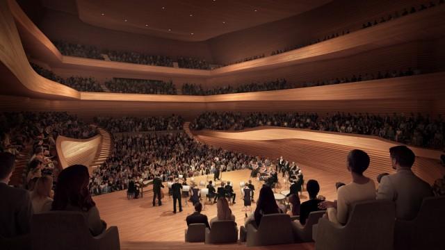 Konzerthaus im Werksviertel: Der große Konzertsaal soll vor allem eins sein: modern.