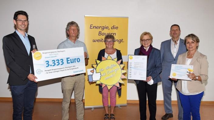 Althegnenberg: Auszeichnung für Projekt (von links): Markus Leczycki, Thomas Rebitzer, Elke Gaag, Maria Els, Rainer Spicker und Martina Drechsler