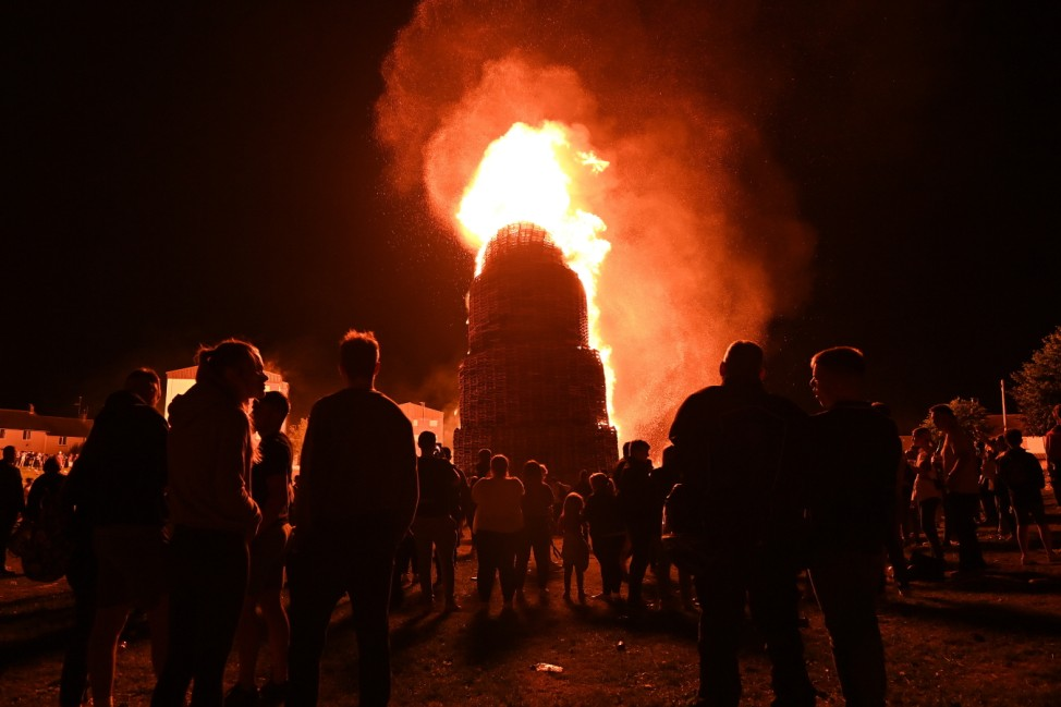 Portadown Eleventh Night Bonfire Is Lit Ahead Of July Twelfth Celebrations