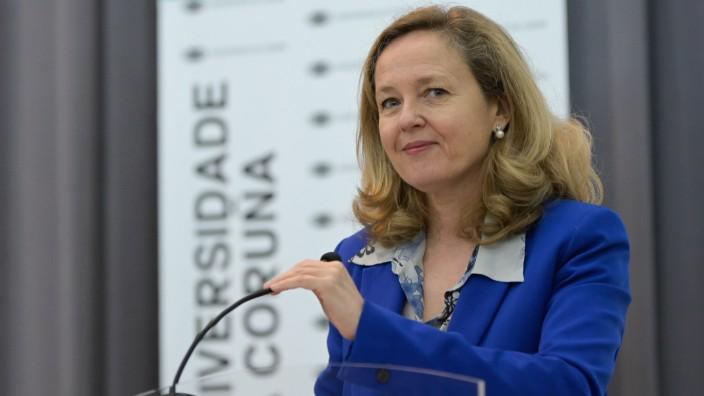 Spanische Vizepräsidentin für Wirtschaft Calvino