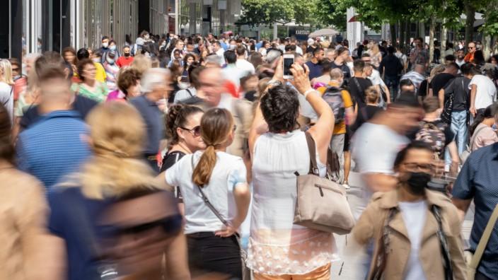 Coronavirus in Deutschland: Fußgängerzone in Frankfurt am Main während der Pandemie
