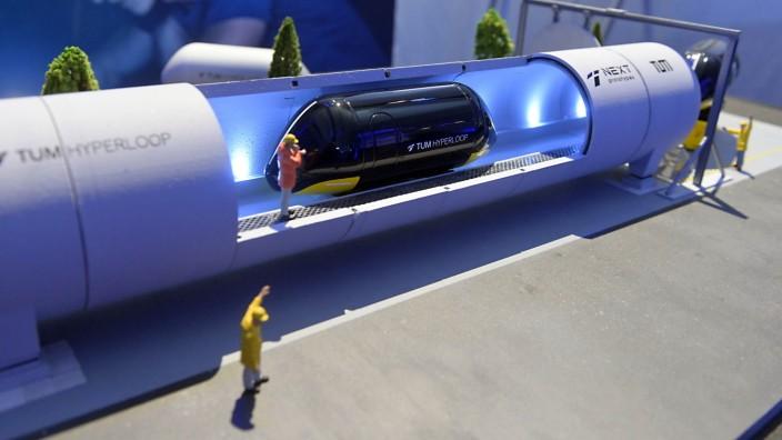 Technische Universität: Das Modell eines Hyperloops.